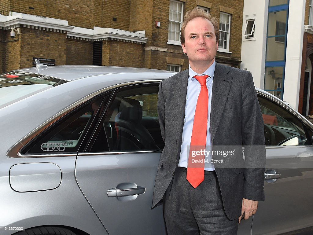 Lord Harry Dalmeny arrives in an Audi at The Old Vic Summer Gala on June 27, 2016 in London, England.