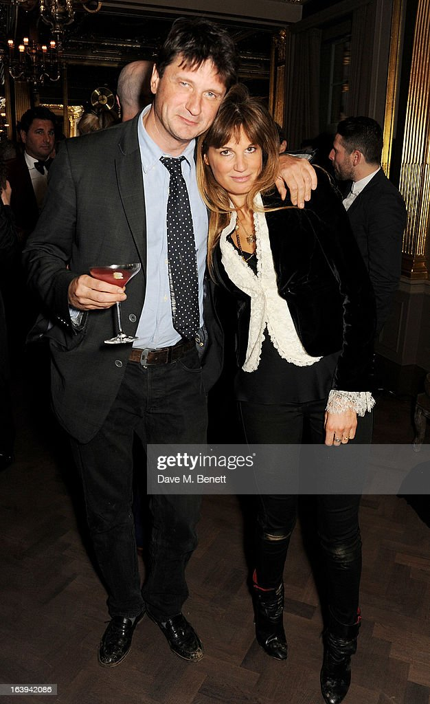 Lord John Somerset (L) and Jemima Khan attend a party celebrating Patrick Cox's 50th Birthday party at Cafe Royal on March 15, 2013 in London, England.