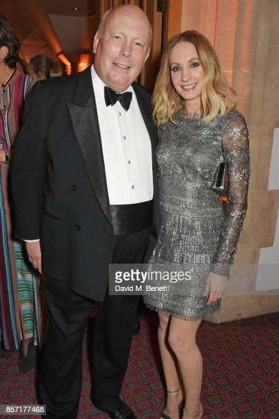 Lord Julian Fellowes and Joanne Froggatt attend the BFI and IWC Luminous Gala at The Guildhall on October 3 2017 in London England