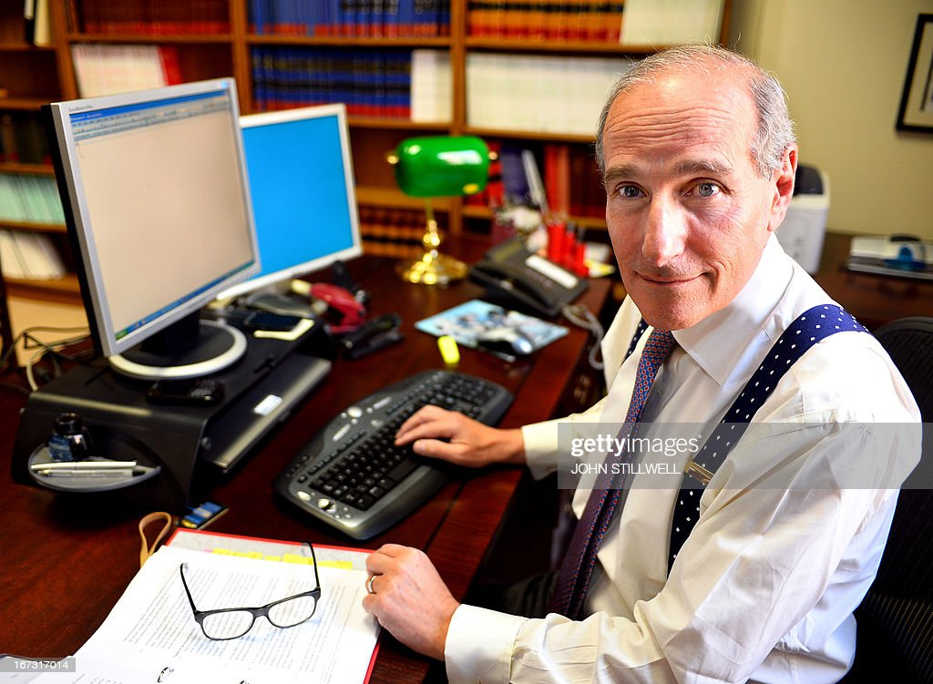 Lord Justice John Goldring, who has been appointed the Coroner for the new Hillsborough inquests into the 1989 disaster at the FA Cup semi-final match at Sheffield, where 96 Liverpool fans were crushed to death, poses at his central London offices on April 23, 2013. Ninety-six Liverpool fans were crushed to death in the Hillsborough football stadium disaster in Sheffield, northern England, in April 1989. It was the worst sporting disaster in British history.