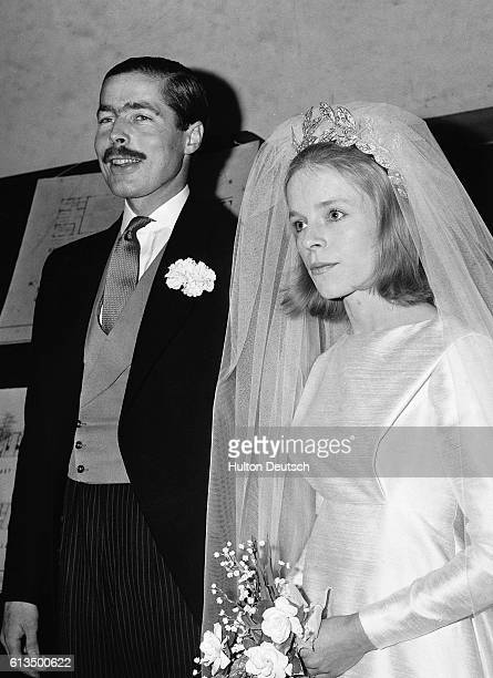 Lord Lucan with his bride Veronica after their marriage 1963