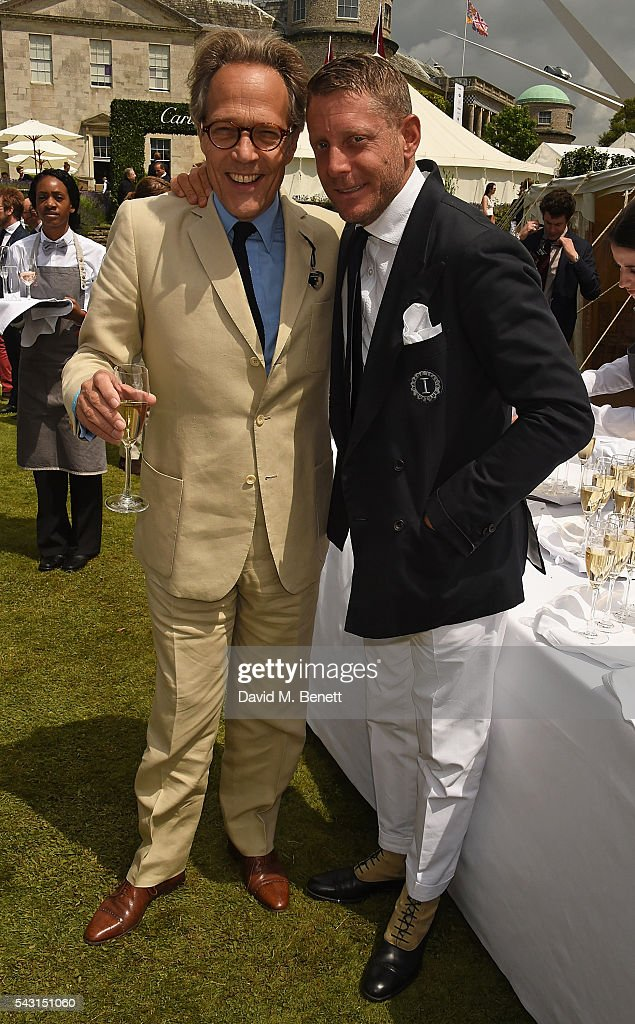 Lord Mach and <a gi-track='captionPersonalityLinkClicked' href=/galleries/search?phrase=Lapo+Elkann&family=editorial&specificpeople=771607 ng-click='$event.stopPropagation()'>Lapo Elkann</a> attend The Cartier Style et Luxe at the Goodwood Festival of Speed at Goodwood on June 26, 2016 in Chichester, England.