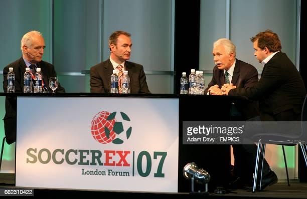 Lord Mawhinney Ian Penrose CEO Sporttech PLC Dr Rogan Taylor Director of FIG Liverpool University and Dan Vikman PR Communication Director Expektcom