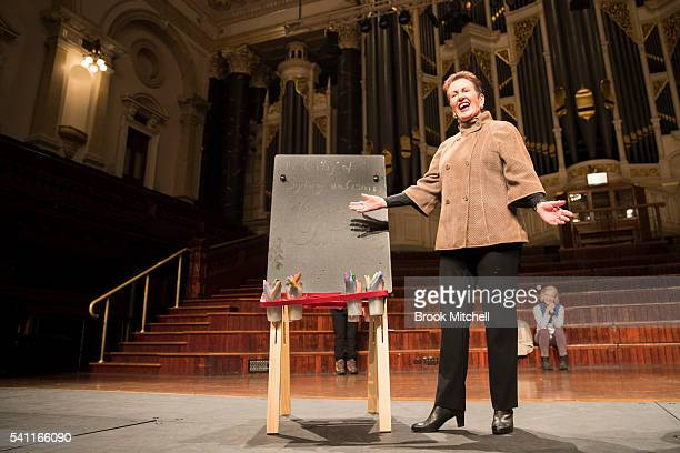 Lord Mayor Clover Moore shows her support for refugees on June 19 2016 in Sydney Australia The rally was organised as a show of public support for...