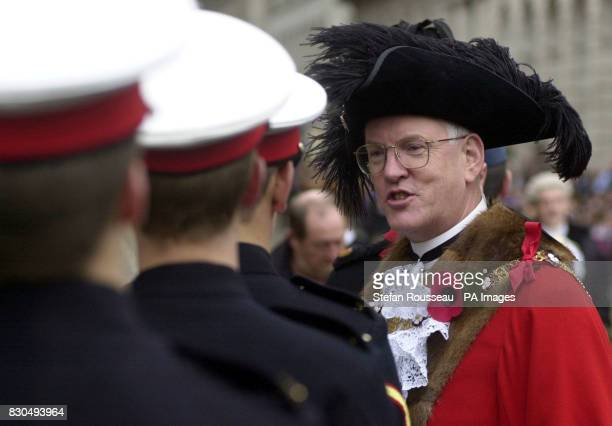 Lord Mayor David Howard before the start of the Lord Mayor's Show in central London where he was sworn in as head the Corporation of London the...