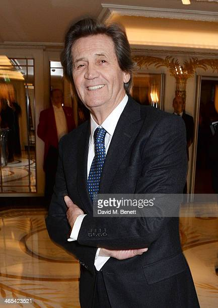Lord Melvyn Bragg attends a drinks reception at the South Bank Sky Arts awards at the Dorchester Hotel on January 27 2014 in London England