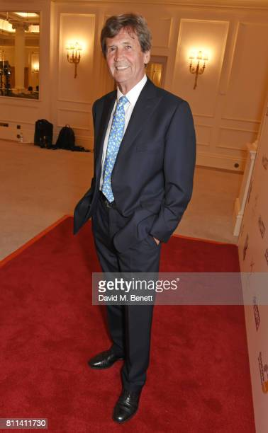 Lord Melvyn Bragg poses in the winners room at The South Bank Sky Arts Awards at The Savoy Hotel on July 9 2017 in London England