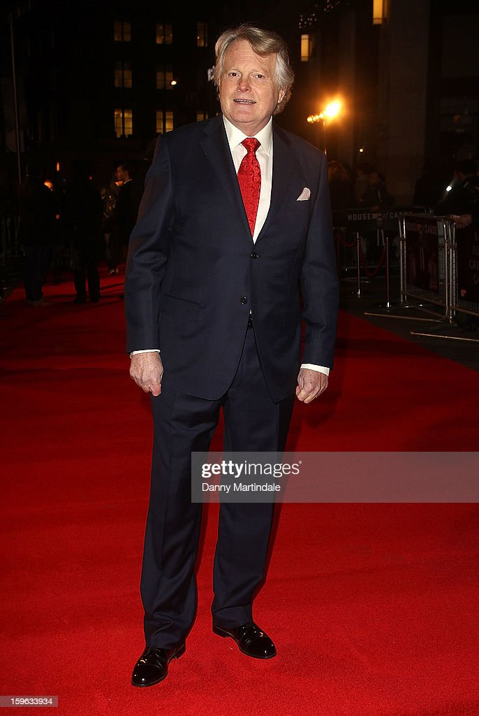Lord Michael Dobbs attends the red carpet premiere for the launch of Netflix Original Series, House of Cards on January 17, 2013 in London, United Kingdom.