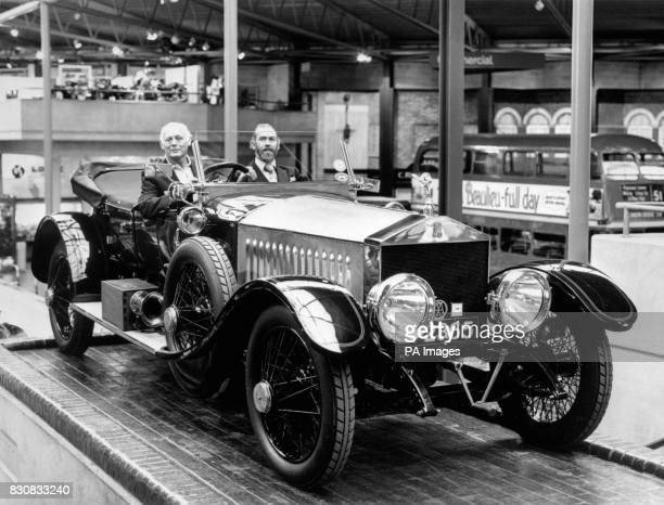 Lord Montagu of Beaulieu and Prince Michael of Kent at the National Motor Museum Beaulieu Hampshire They are ready to head off for Australia in a...