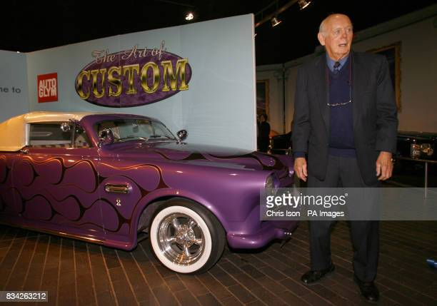 Lord Montague opens a new exhibition of custom vehicles at the National Motor Museum at Beaulieu in The New Forest Hampshire The Art of Custom...