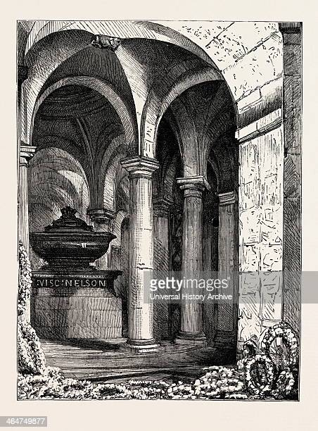Lord Napier's Grave In The Crypt Of St Paul's London Engraving 1890 UK Uk Britain British Europe United Kingdom Great Britain European