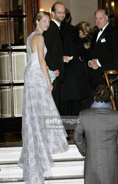 Lord Nicholas Windsor and his new wife Paola Doimi De Frankopan attend a private party to celebrate the 80th birthday of Queen Elizabeth II at the...