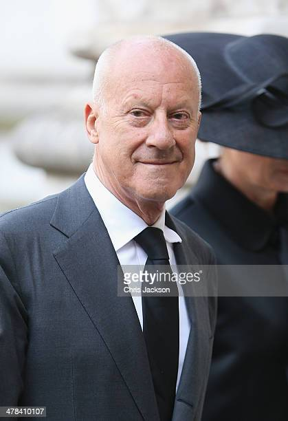 Lord Norman Foster attends a memorial service for Sir David Frost at Westminster Abbey on March 13 2014 in London England