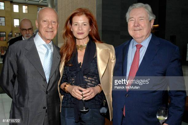 Lord Norman Foster Lady Elena Foster and Frank Bennack attend Champagne Reception for the New York Premiere of 'HOW MUCH DOES YOUR BUILDING WEIGH MR...