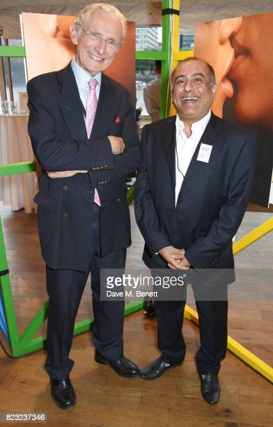 Lord Norman Fowler and Niranjan Kamatkar founder of GFEST attend Absolut's #KissWithPride event at the Houses of Parliament in celebration of the...