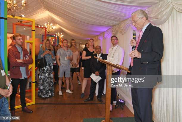 Lord Norman Fowler speaks at Absolut's #KissWithPride event at the Houses of Parliament in celebration of the 50th anniversary of The Sexual Offences...