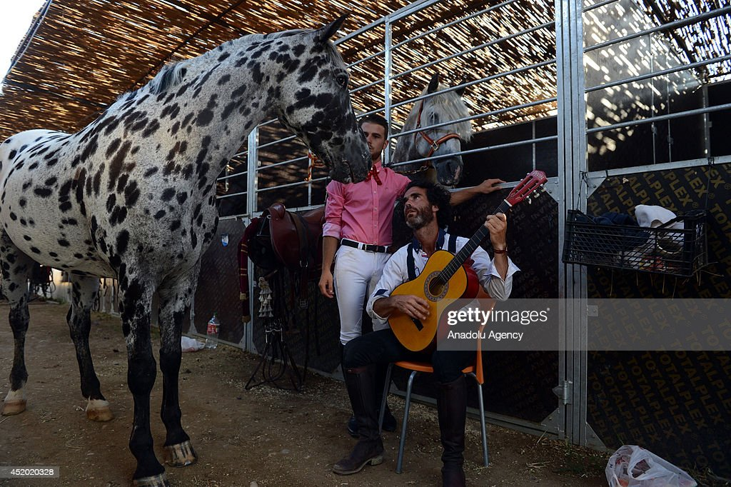 'Lord of the Horses' show starts at Ulusoy Arena in the tourism resort Belek of Antalya, Turkey on July 11, 2014. The group, with 60 horses including Andalusian, Pony and Shire ones, and also Spanish, Italian and Uzbek horse trainers, will stay in Antalya for 3 and a half month for the show.