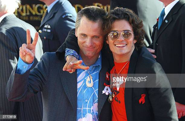 Lord of The Rings stars Viggo Mortensen and Orlando Bloom at the Embassy theatre for the worldwide premier of the third and final Rings movie 'Return...