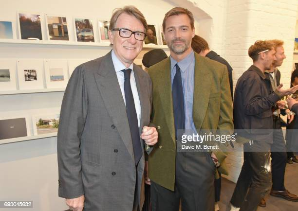 Lord Peter Mandelson and Patrick Grant attend the E Tautz 150 exhibition in aid of Help Refugees on June 6 2017 in London England