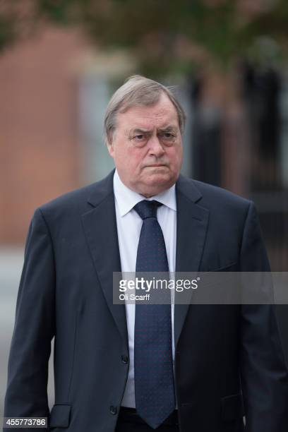 Lord Prescott arrives at Salford Cathedral to attend the funeral of Labour MP Jim Dobbin on September 20 2014 in Salford England The fourday annual...