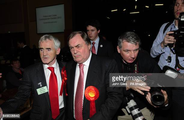 Lord Prescott leaves after losing to Matthew Grove in the vote for the Police and Crime Commissioner in the Humberside Police Area in The Bridlington...