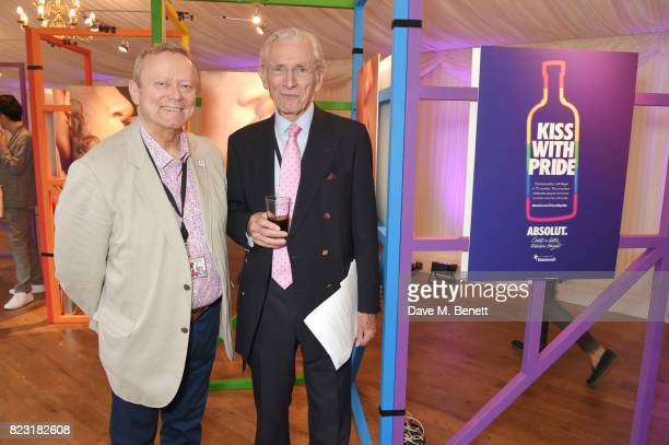 Lord Ray Collins and Lord Norman Fowler attend Absolut's #KissWithPride event at the Houses of Parliament in celebration of the 50th anniversary of...