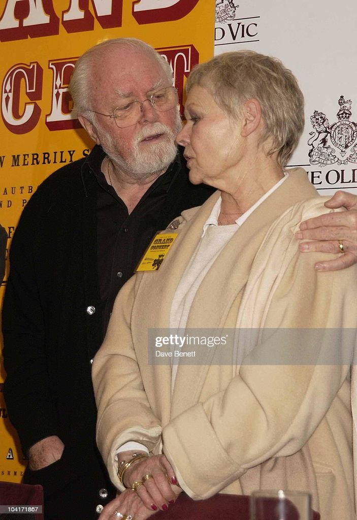 Lord Richard Attenborough And Dame Judi Dench, Press Conference For Kevin Spacey, The Theatre's New Artistic Director. Lending Support Was The Theatre's Chairman, Sir Elton John, At The Old Vic Theatre, Waterloo, London