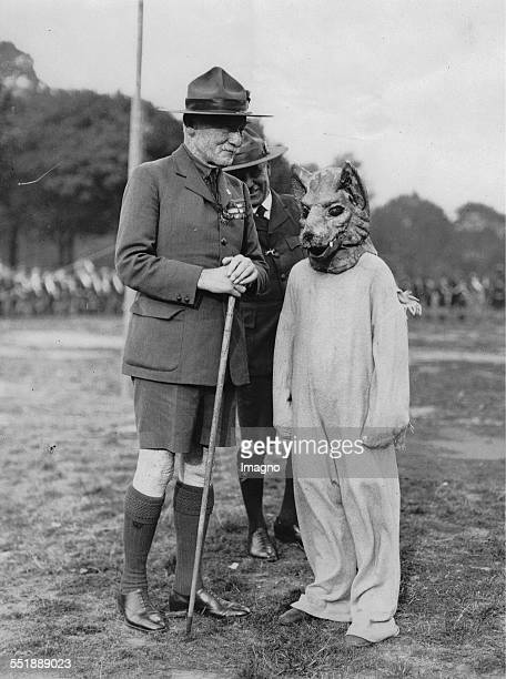 Lord Robert BadenPowell in conversation with a young 'silver Fox ' at the Scouts Rally in the East End of London About 1935 Photograph