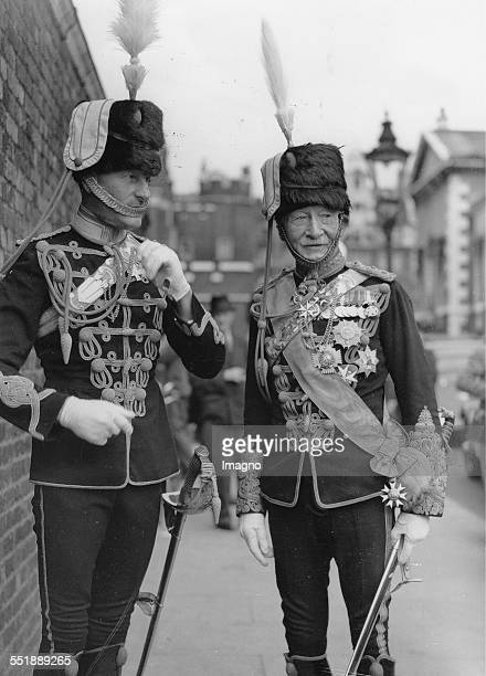 Lord Robert BadenPowell in hussar uniform St James Palace Before the King´s levee 22th June 1937 Photograph