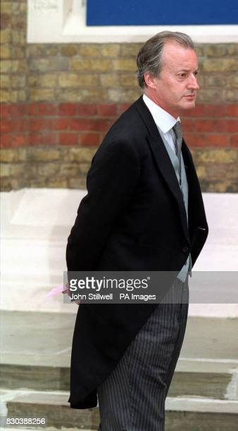 Lord Romsey arrives at the Greek Orthodox Cathedral of St Sophia in Bayswater West London for the wedding of Princess Alexia of Greece to Carlos...