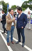 Lord Sebastian Coe and Giorgio Veroni attend day 2 of the 2016 FIA Formula E Visa London ePrix in Battersea Park on July 3 2016 in London England