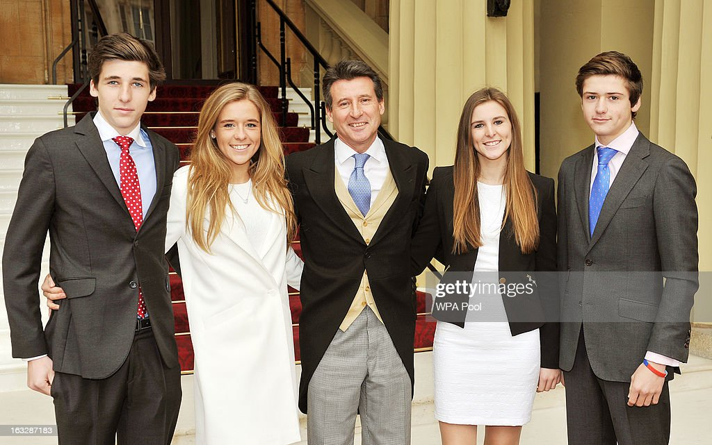 Lord <a gi-track='captionPersonalityLinkClicked' href=/galleries/search?phrase=Sebastian+Coe&family=editorial&specificpeople=160624 ng-click='$event.stopPropagation()'>Sebastian Coe</a> arrives to receive his Order of the Companions of Honour with his children (L-R) Harry, Maddy, Alice, and Peter at the Investiture Ceremony which will be conducted by the Princess Royal at Buckingham Palace on March 07, 2013 in London, England.