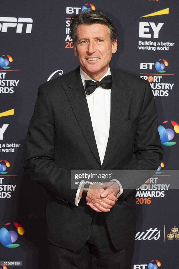 Lord Sebastian Coe attends the BT Sport Industry Awards 2016 in London, United Kingdom on April 28, 2016.