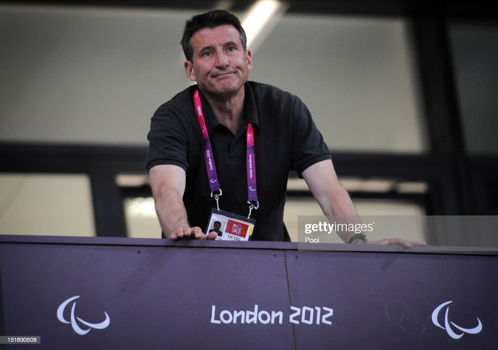 Lord <a gi-track='captionPersonalityLinkClicked' href=/galleries/search?phrase=Sebastian+Coe&family=editorial&specificpeople=160624 ng-click='$event.stopPropagation()'>Sebastian Coe</a> watches the last night of the athletics on Day 10 of the London 2012 Paralympic Games at the Olympic Stadium on September 8, 2012 in London, England.