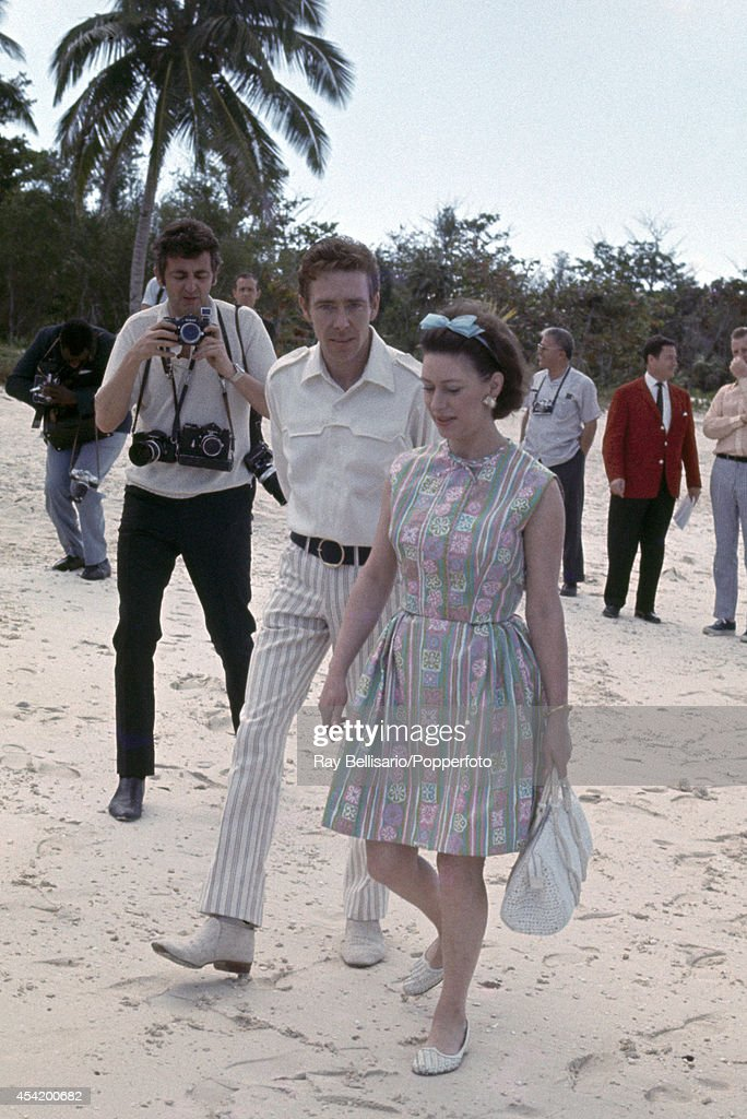 Lord Snowdon and Princess Margaret on holiday at Lyford Cay in the Bahamas on 11th March 1967.