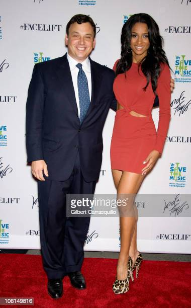 Lord Taylor's CEO Brendan Hoffman and singer Ciara attend The Lord Taylor 'Ultimate FaceLift' Celebration at Lord Taylor on October 26 2010 in New...