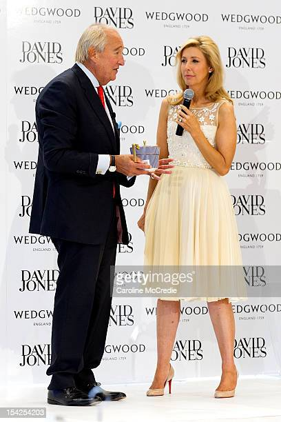 Lord Wedgwood and Catriona Rowntree attend the David Jones High Tea October 17 2012 in Sydney Australia