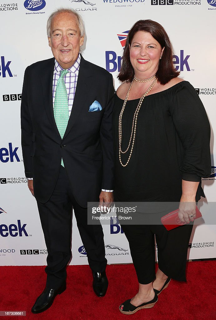 Lord Wedgwood (L) and his guest attend the launch of the Seventh Annual Britweek Festival 'A Salute to Old Hollywood' on April 23, 2013 in Los Angeles, California.