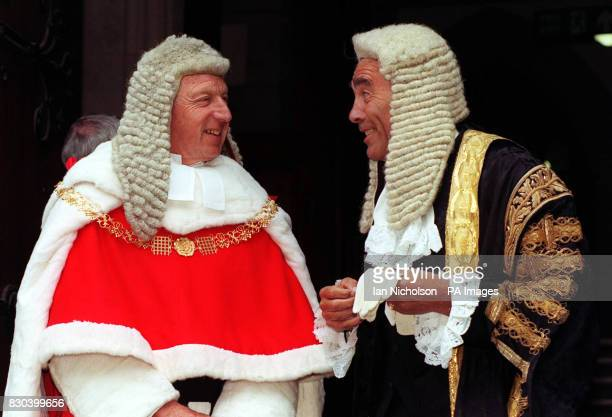 Lord Woolf who was sworn in as Lord Chief Justice of England and Wales with Lord Phillips of Worth Matravers who was sworn in as Master of the Rolls...