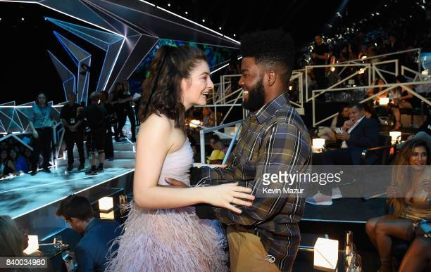 Lorde and Khalid attend the 2017 MTV Video Music Awards at The Forum on August 27 2017 in Inglewood California