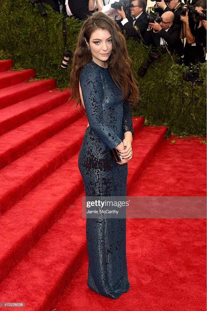 <a gi-track='captionPersonalityLinkClicked' href=/galleries/search?phrase=Lorde&family=editorial&specificpeople=3209104 ng-click='$event.stopPropagation()'>Lorde</a> attends the 'China: Through The Looking Glass' Costume Institute Benefit Gala at the Metropolitan Museum of Art on May 4, 2015 in New York City.