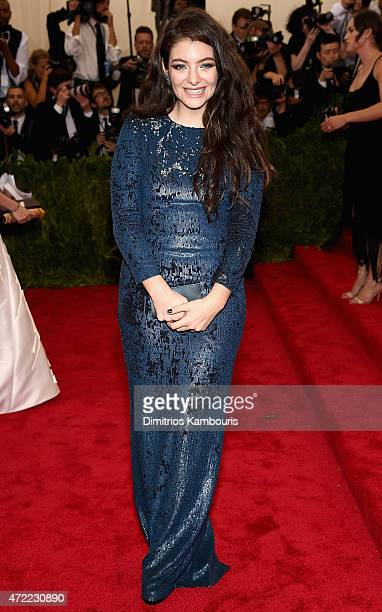Lorde attends the 'China Through The Looking Glass' Costume Institute Benefit Gala at the Metropolitan Museum of Art on May 4 2015 in New York City