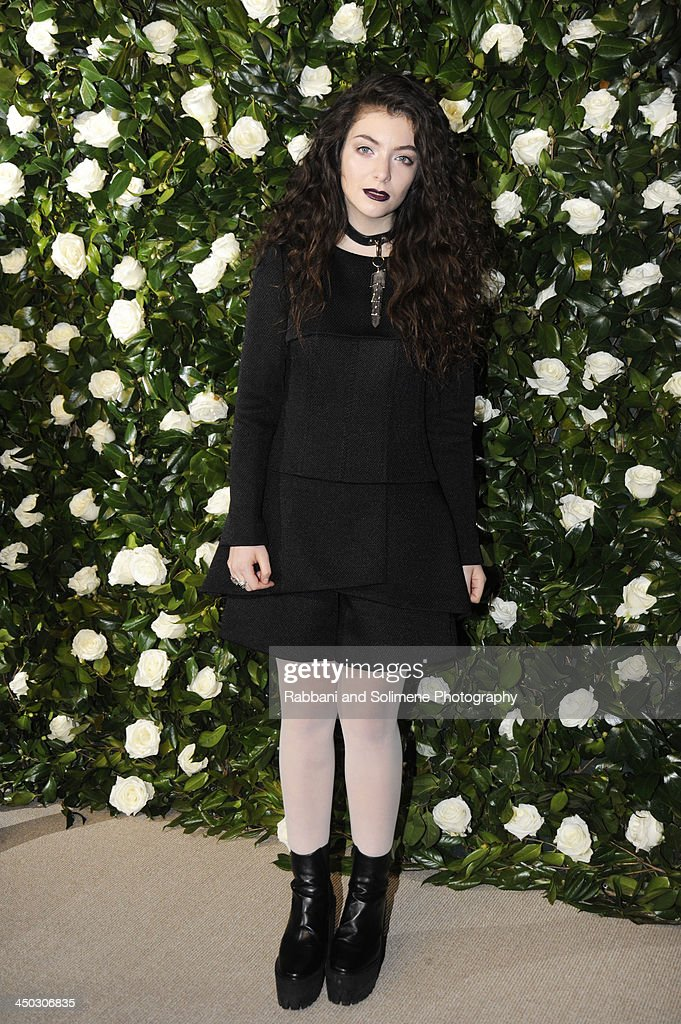 <a gi-track='captionPersonalityLinkClicked' href=/galleries/search?phrase=Lorde&family=editorial&specificpeople=3209104 ng-click='$event.stopPropagation()'>Lorde</a> attends the Museum of Modern Art 2013 Film benefit - A Tribute To Tilda Swinton on November 5, 2013 in New York City.