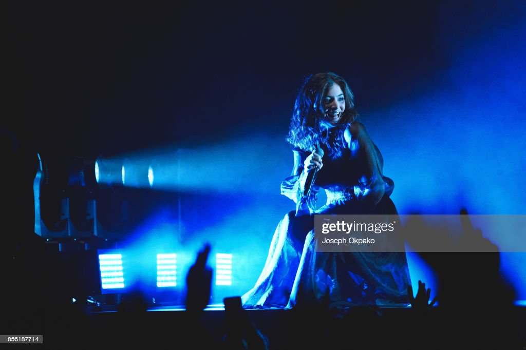 Lorde performs at Brighton Centre on September 30, 2017 in Brighton, England.