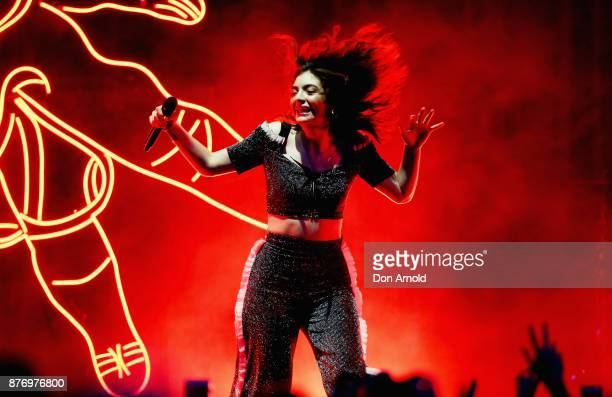 Lorde performs at Sydney Opera House on November 21 2017 in Sydney Australia