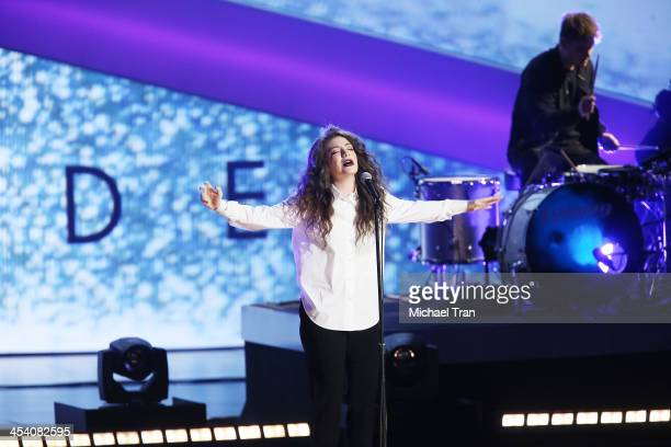 Lorde performs at the GRAMMY Nominations Concert Live held at Nokia Theatre LA Live on December 6 2013 in Los Angeles California