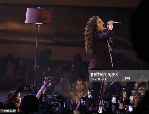 TORONTO JUNE 15 Lorde performs at the MMVA 2014 awards show featuring some of the countries best talent on June 15 2014