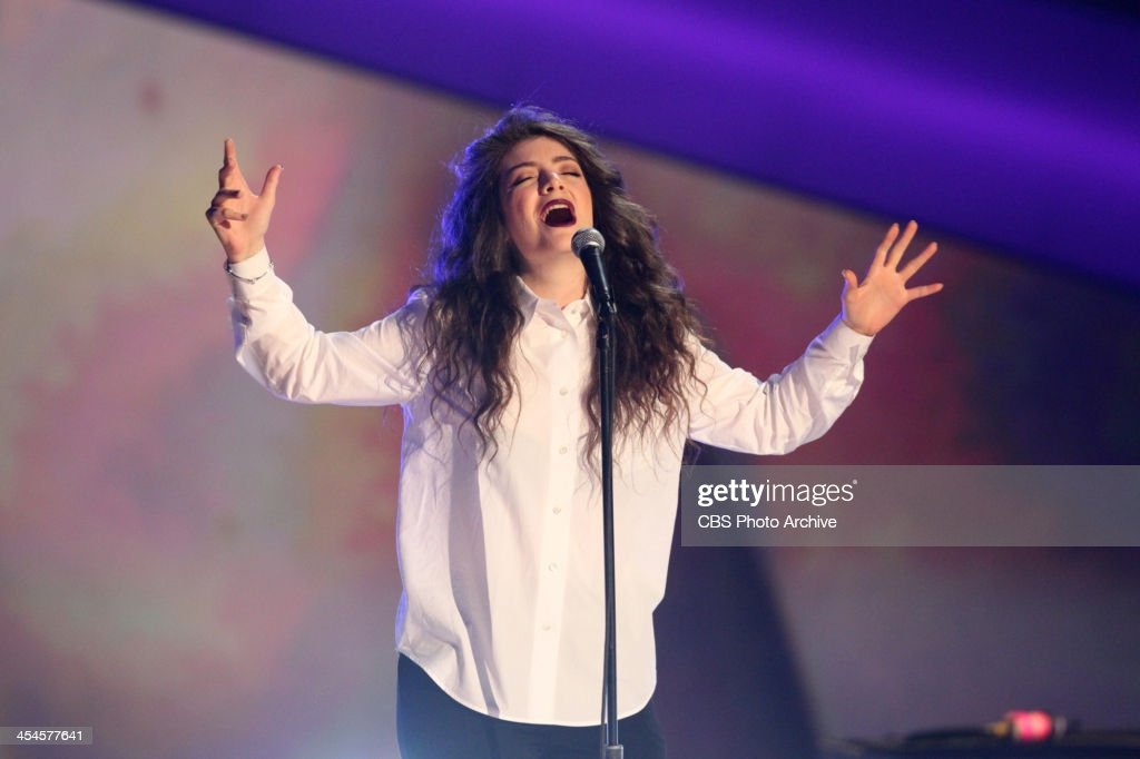 Lorde performs during the THE GRAMMY NOMINATIONS CONCERT LIVE! COUNTDOWN TO MUSIC'S BIGGEST NIGHT® broadcast Friday, Dec. 6 (10:00 11:00 PM, live ET/delayed PT) on the CBS Television Network.