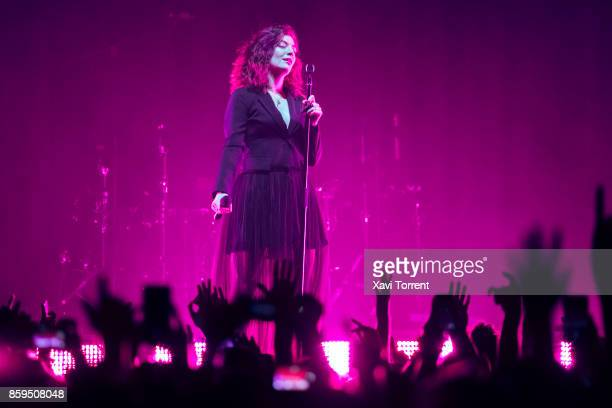 Lorde performs in concert at Sant Jordi Club on October 9 2017 in Barcelona Spain