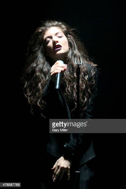 Lorde performs in concert at the Austin Music Hall on March 3 2014 in Austin Texas